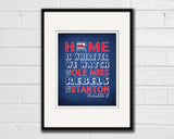 "Ole Miss Rebels inspired Personalized Customized Art Print- ""Home Is"" Parody- Retro, Vintage-  Unframed Print"