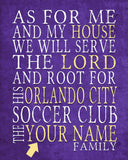 "Orlando City SC Soccer Club Personalized ""As for Me"" Art Print"