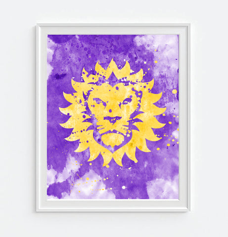 Orlando City Soccer Club Watercolor Art Print Poster Gift