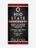 "Ohio State Buckeyes inspired ""Eye Chart"" ART PRINT, Sports Wall Decor, man cave gift for him, Unframed"