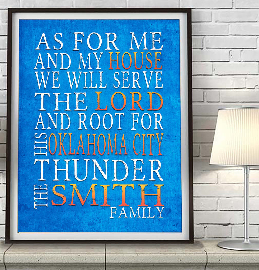 "Oklahoma City Thunder Personalized ""As for Me"" Art Print"