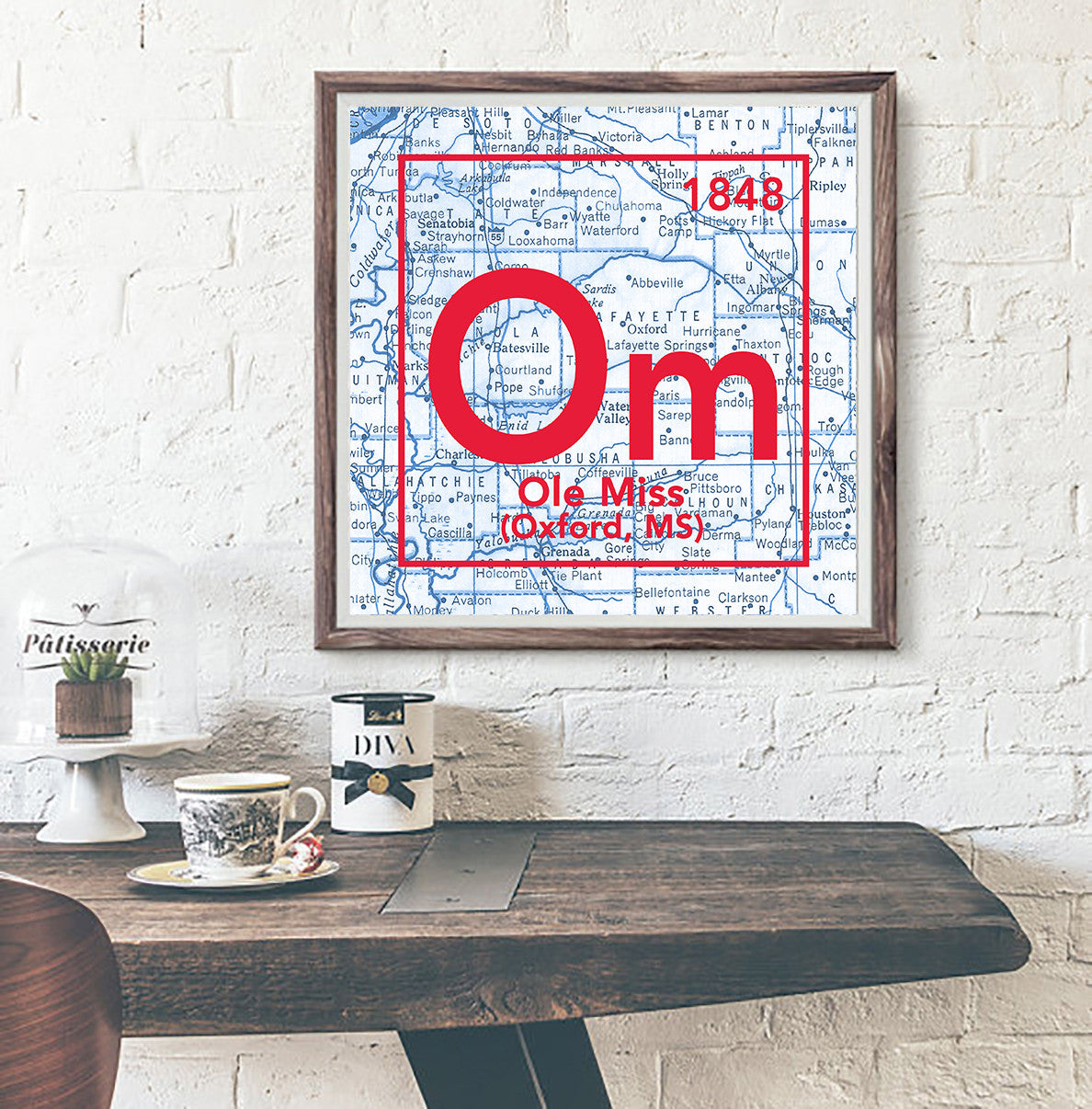 Ole miss oxford mississippi vintage periodic map art print ole miss oxford mississippi vintage periodic map art print urtaz Images