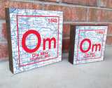 Ole Miss Rebels- Periodic Map art print on Wooden Block