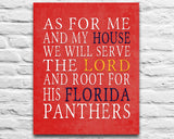 "Florida Panthers hockey Personalized ""As for Me"" Art Print"