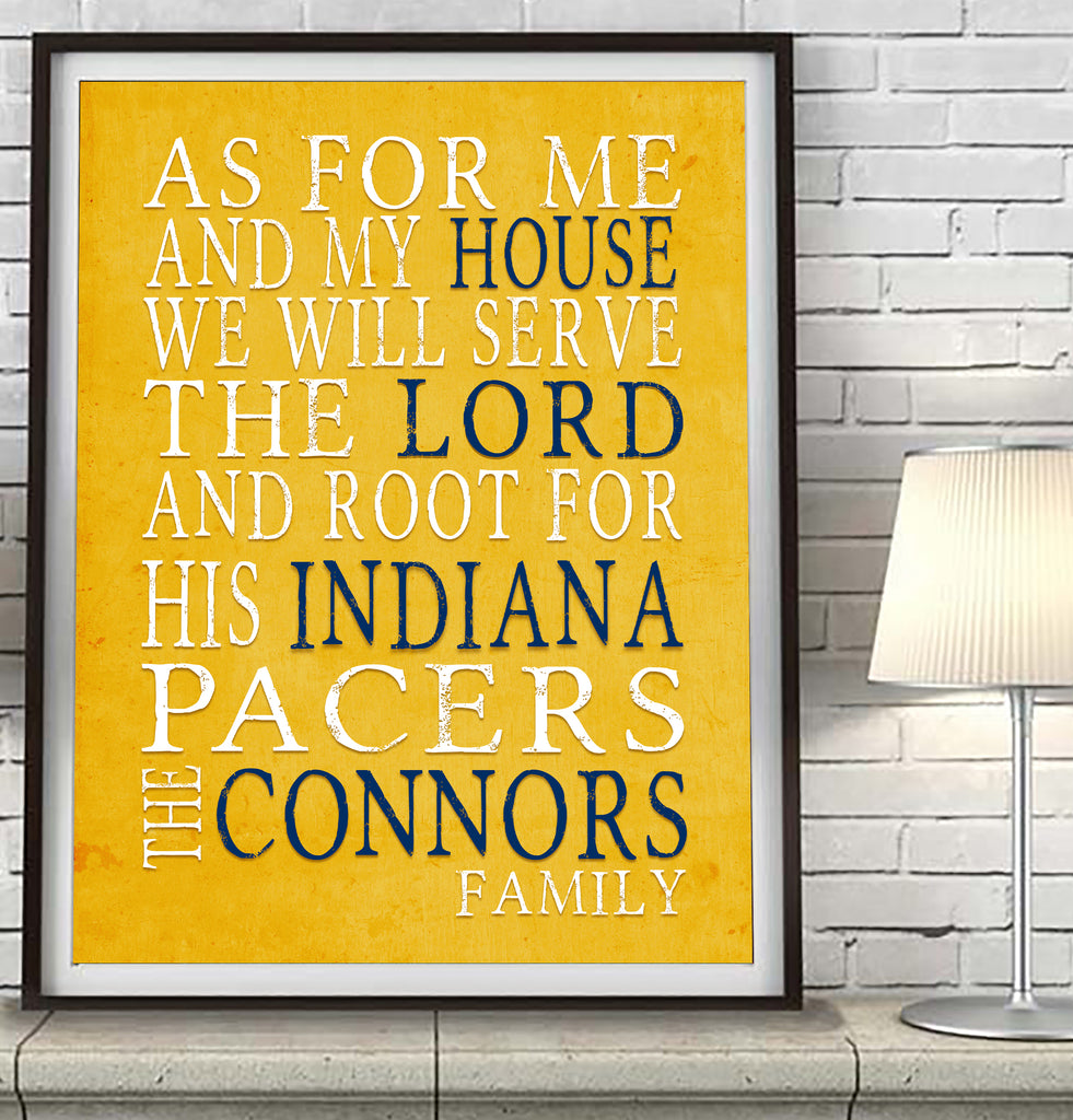 "Indiana Pacers basketball Personalized ""As for Me"" Art Print"