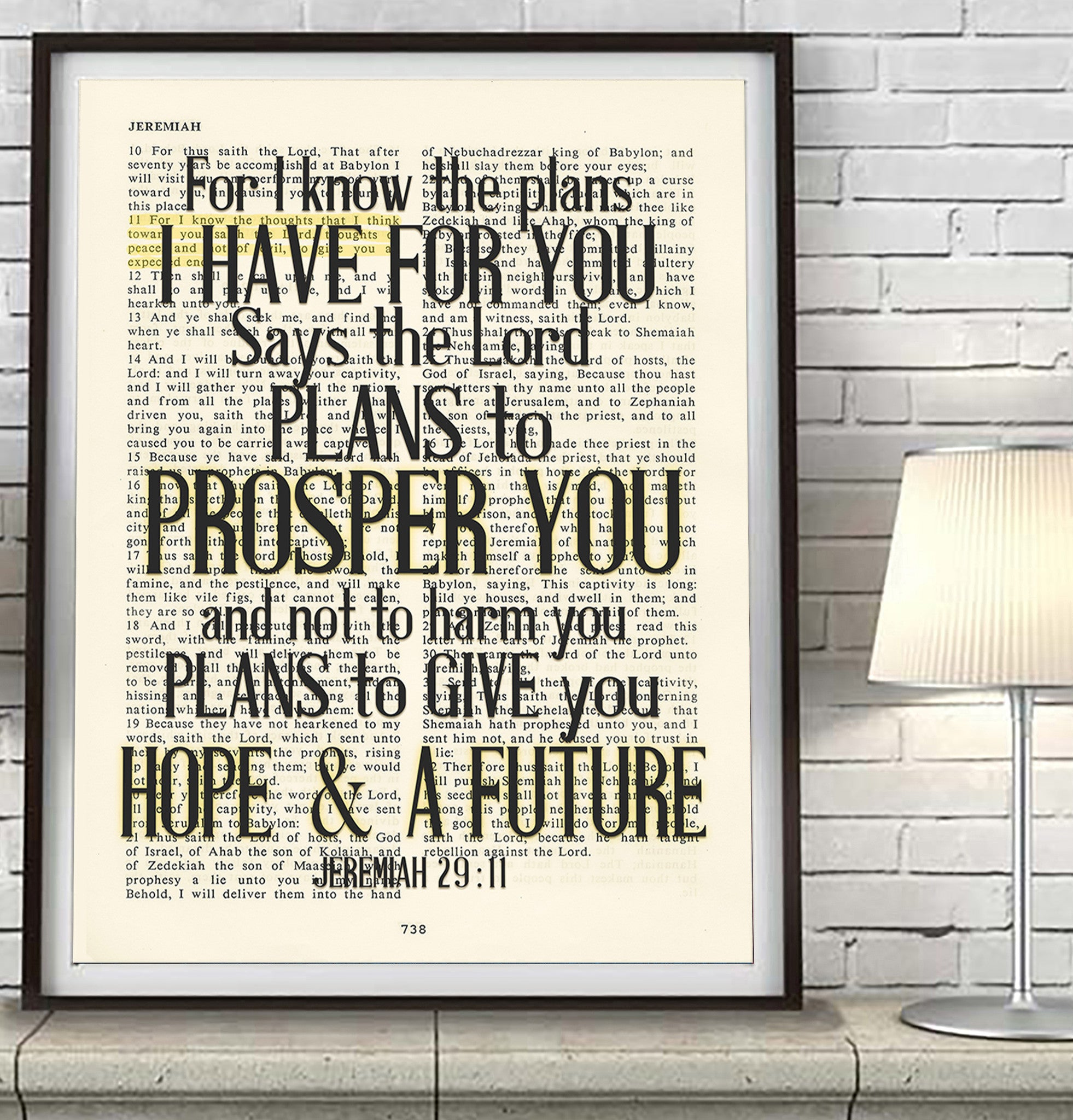Jeremiah 29 11 Wall Art for i know the plans- jeremiah 29:11 bible page christian art