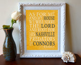 "Nashville Predators hockey inspired Personalized Customized Art Print- ""As for Me"" Parody- Unframed Print"