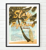 Stay Righteous - Psalm 92:12- Vintage Bible Highlighted Verse Scripture Page- Christian Wall ART PRINT