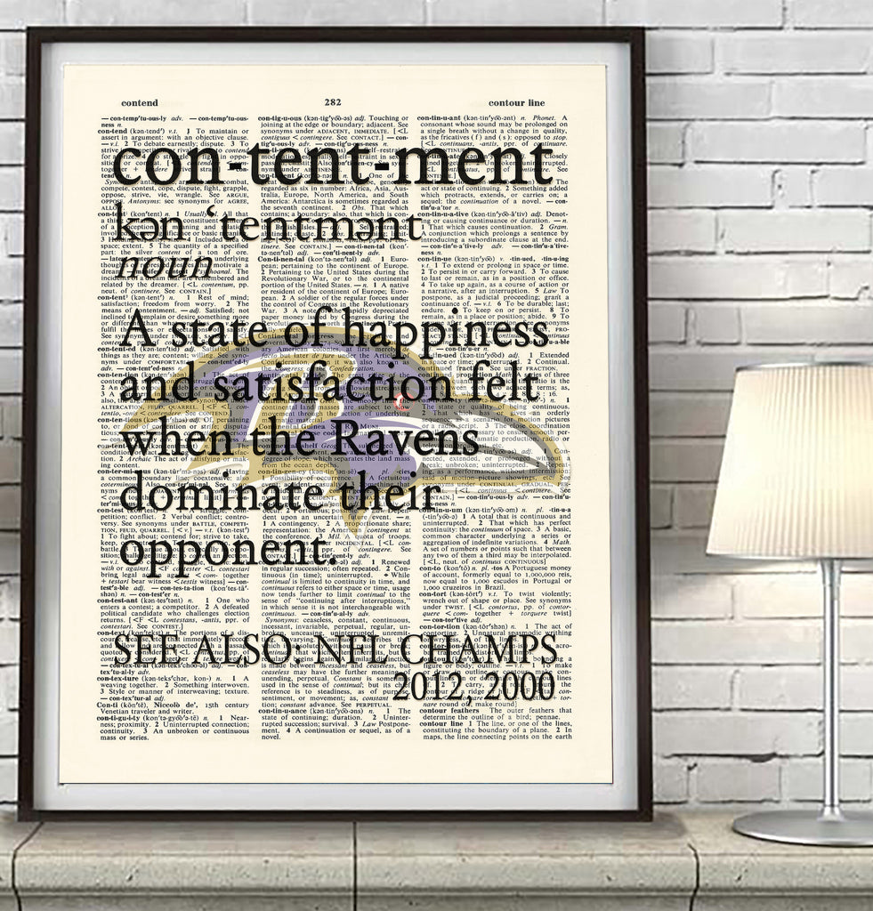 "Baltimore Ravens inspired ""Contentment"" Art Print - Christmas poster gift"