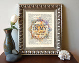 Remain in my Love -John 15:9 Bible Page Christian ART PRINT