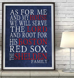 "Boston Red Sox Personalized ""As for Me"" Art Print"