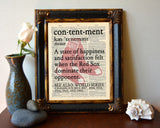 "Boston Red Sox inspired ""Contentment"" ART PRINT Using Old Dictionary Pages, Unframed"