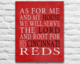 "Cincinnati Reds baseball Personalized ""As for Me"" Art Print"