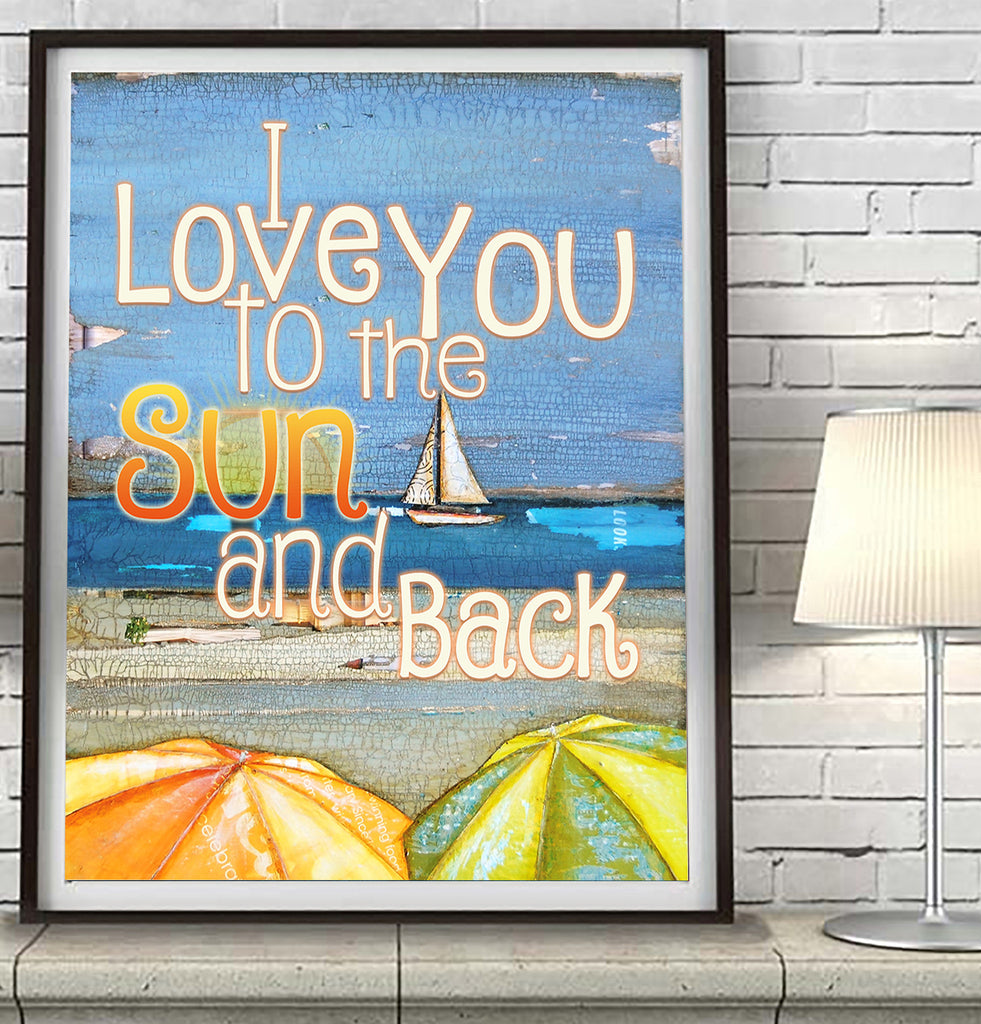 I Love you to the Sun and Back - Danny Phillips Fine Art Print
