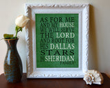 "Dallas Stars hockey inspired Personalized Customized Art Print- ""As for Me"" Parody- Unframed Print"