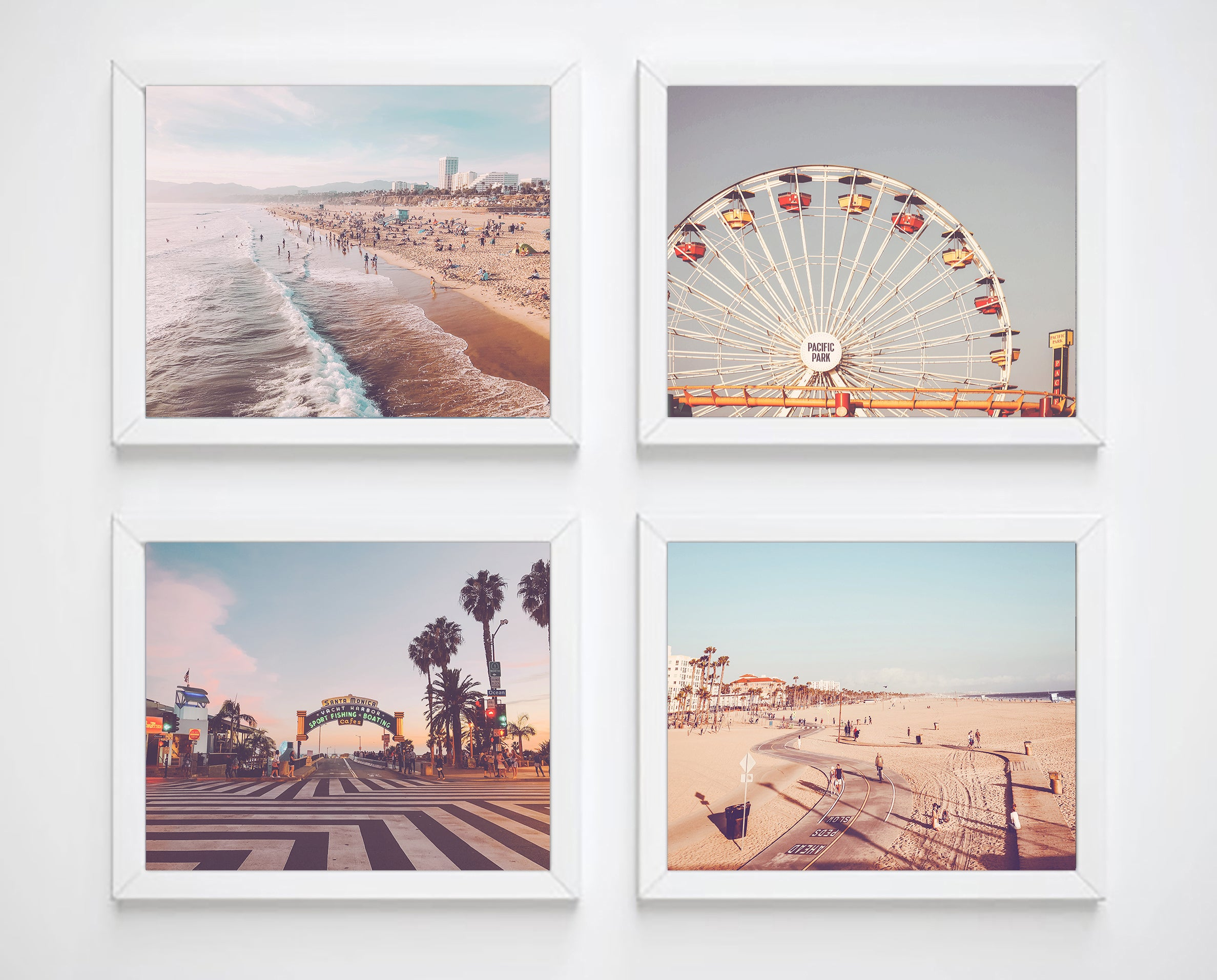 Malibu and Santa Monica California Beach Coastal Photography from Venice Beach Set of 3 Photographic Prints 5x7 or 8x10 with or without matting California Beach Prints