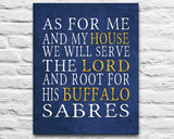 "Buffalo Sabres hockey Personalized ""As for Me"" Art Print"