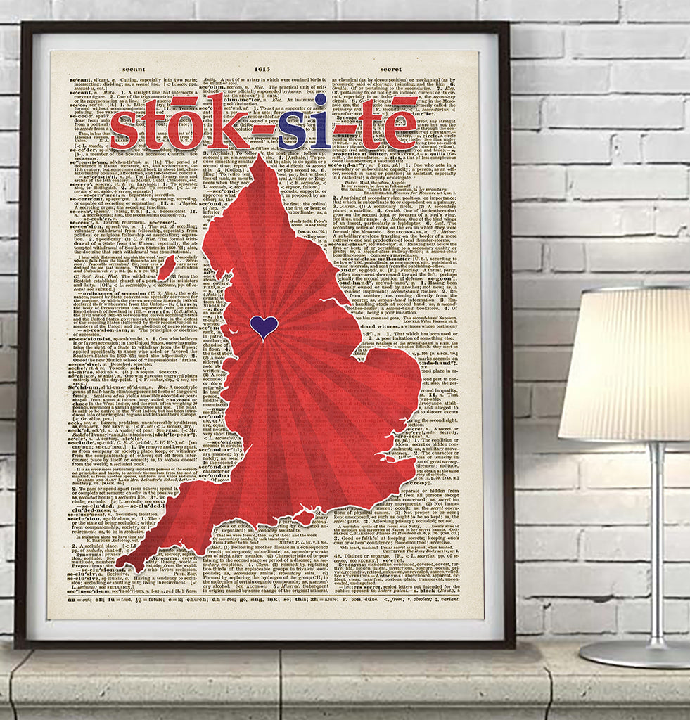 Stoke City football soccer Phonics/Phonetic Art Print - Christmas poster gift