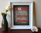 "Tampa Bay Buccaneers Inspired Personalized & Customized ART PRINT- ""Home Is"" Parody Retro Unframed Print"