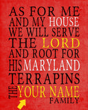 "Maryland Terrapins inspired Customized Art Print- ""As for Me"" Parody- Unframed Print"