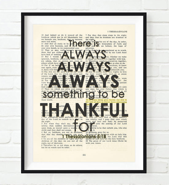 There Is Always 1 Thessalonians 5 18 Bible Page Art