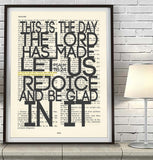 This is the Day the Lord Made- Psalms 118:24 Bible Art Print