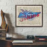 Tennessee Titans Dictionary Page Art Print - Christmas poster gift