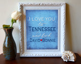 Tennessee Titans-I Love You to Tennessee and Back-Art Print Poster Gift