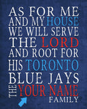 "Toronto Blue Jays Personalized ""As for Me"" Art Print"
