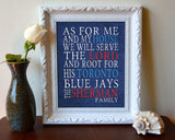 "Toronto Blue Jays baseball inspired Personalized Customized Art Print- ""As for Me"" Parody- Unframed Print"