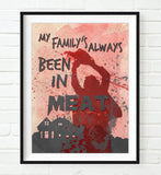 Texas Chainsaw Massacre -leatherface Art Print Poster Gift