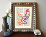 Wait on the Lord -Isaiah 40:31- Vintage Bible Highlighted Verse Scripture Page- Christian Wall ART PRINT -Unframed