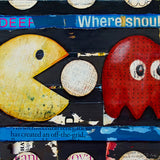 Wakawakawaka - Pac-Man mixed media collage painting - Danny Phillips Fine Art Print