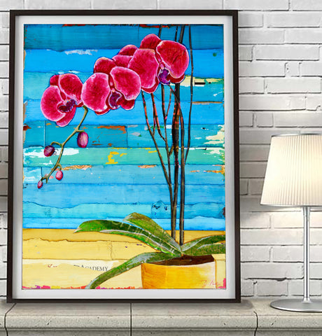Wish You Were Here- Orchids - Danny Phillips Art Print