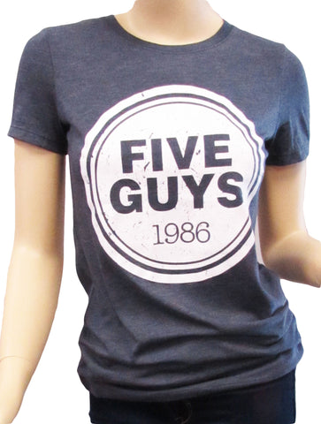 Five Guys Distressed Women's Triblend Crew