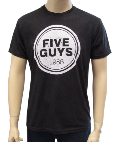 Five Guys Distressed Men's Triblend Crew