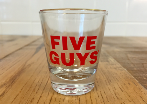 Five Guys Shot Glass