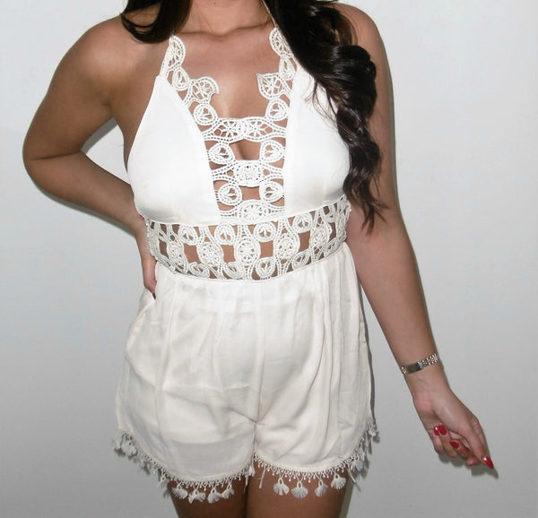 Amber Playsuit Beige