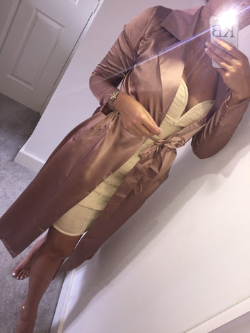 Rose Gold Drippin' Silk Jacket