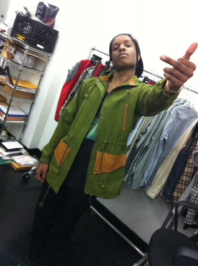 ASAP Rockey at Feltraiger Store in Brooklyn