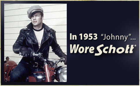 Marlon Brando in a Classic Leather Jacket by Schott in The Wild One