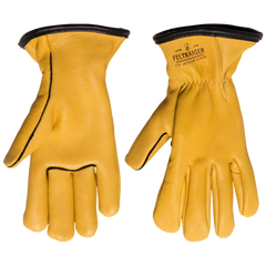 Deerskin Lined Glove - Yellow with Black Trim
