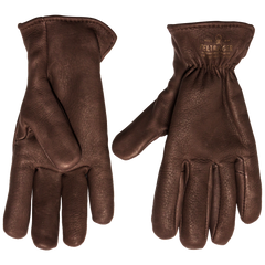 Deerskin Lined Glove - Brown