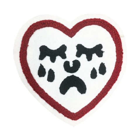 Crying Heart Chain Stitched Patch