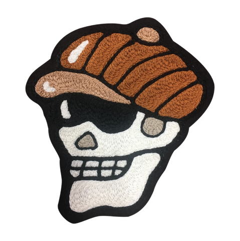 Bookie Skull Chain Stitched Patch