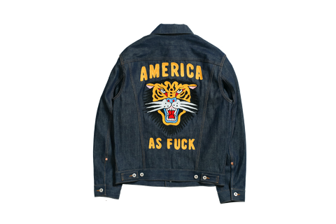 FELTRAIGER x High Seas America as Fuck Ryder Denim Jacket