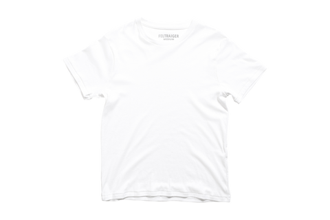 The Dean Tee - Winter Weight White
