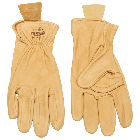 Deerskin Unlined Glove - Yellow