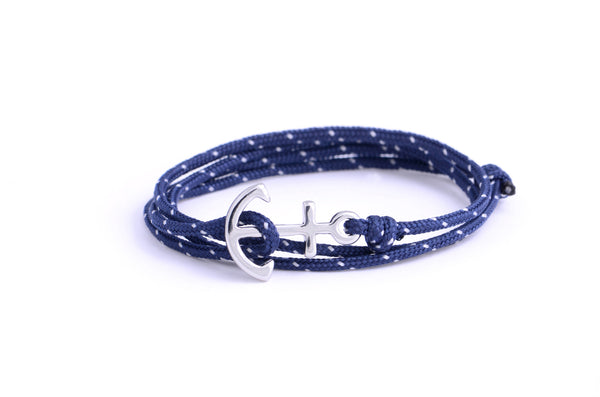 Crew - Navy Anchor Bracelet