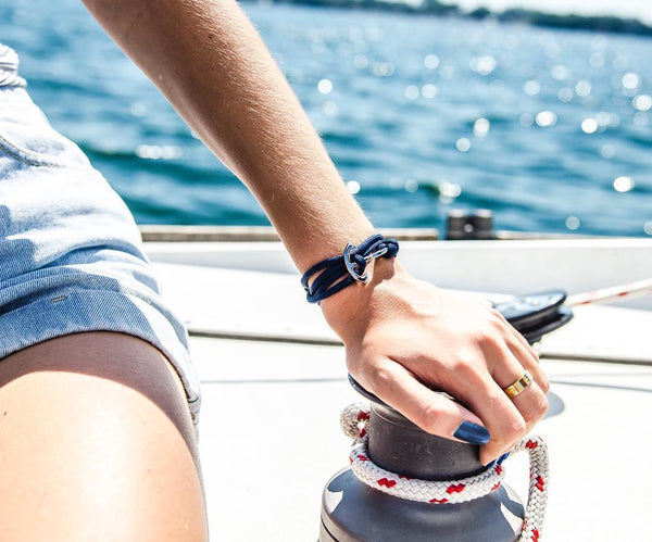Cruising - Navy Anchor Bracelet